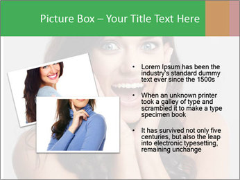 Young cute amazded girl PowerPoint Template - Slide 20