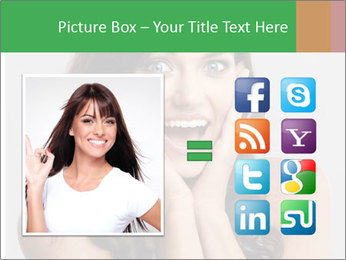 Young cute amazded girl PowerPoint Template - Slide 21