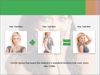 Young cute amazded girl PowerPoint Template - Slide 22