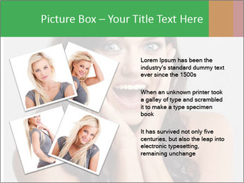 Young cute amazded girl PowerPoint Template - Slide 23