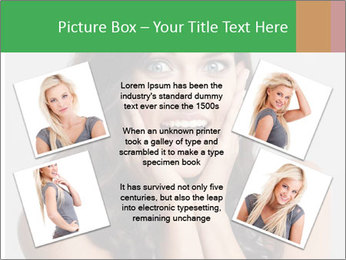Young cute amazded girl PowerPoint Templates - Slide 24