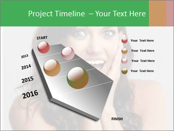 Young cute amazded girl PowerPoint Template - Slide 26
