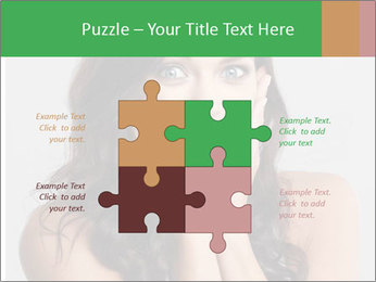 Young cute amazded girl PowerPoint Templates - Slide 43