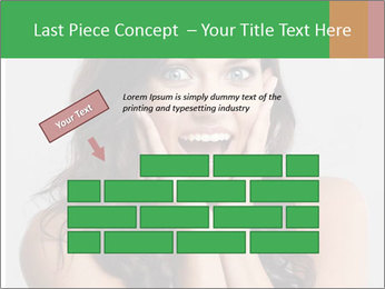 Young cute amazded girl PowerPoint Template - Slide 46
