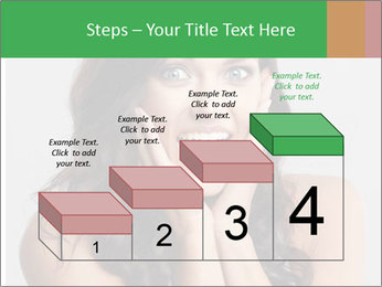 Young cute amazded girl PowerPoint Template - Slide 64