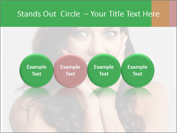 Young cute amazded girl PowerPoint Template - Slide 76