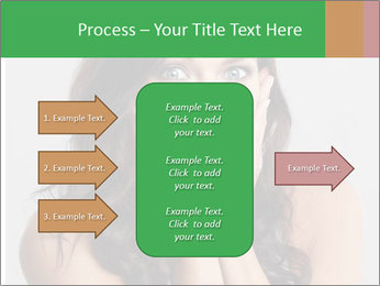 Young cute amazded girl PowerPoint Template - Slide 85