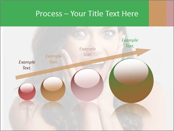Young cute amazded girl PowerPoint Template - Slide 87