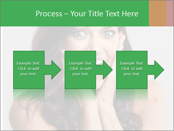 Young cute amazded girl PowerPoint Template - Slide 88