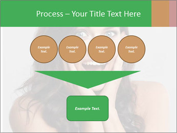 Young cute amazded girl PowerPoint Template - Slide 93