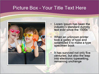 Two little girls and boy sitting in the car PowerPoint Templates - Slide 13
