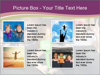 Two little girls and boy sitting in the car PowerPoint Templates - Slide 14