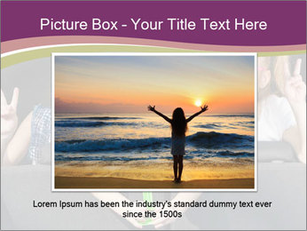 Two little girls and boy sitting in the car PowerPoint Templates - Slide 15