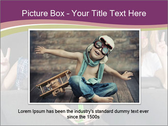 Two little girls and boy sitting in the car PowerPoint Templates - Slide 16