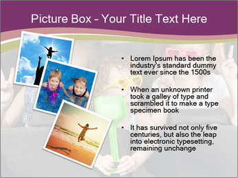 Two little girls and boy sitting in the car PowerPoint Templates - Slide 17
