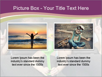 Two little girls and boy sitting in the car PowerPoint Template - Slide 18