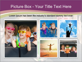 Two little girls and boy sitting in the car PowerPoint Templates - Slide 19