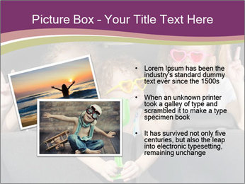 Two little girls and boy sitting in the car PowerPoint Template - Slide 20