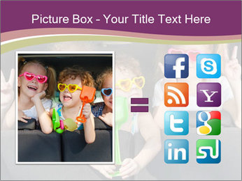 Two little girls and boy sitting in the car PowerPoint Template - Slide 21
