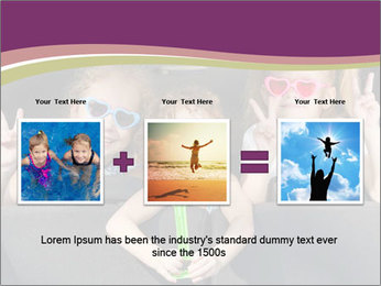 Two little girls and boy sitting in the car PowerPoint Templates - Slide 22