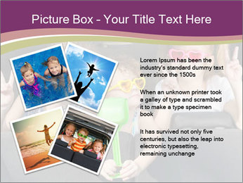 Two little girls and boy sitting in the car PowerPoint Templates - Slide 23