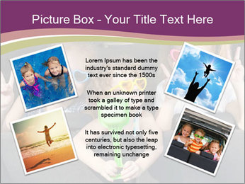 Two little girls and boy sitting in the car PowerPoint Template - Slide 24