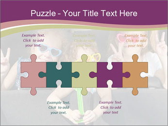 Two little girls and boy sitting in the car PowerPoint Templates - Slide 41