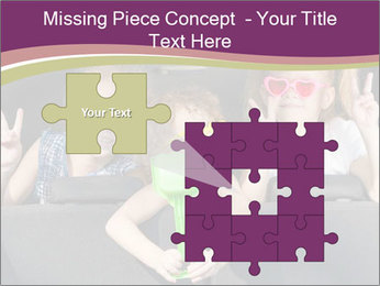 Two little girls and boy sitting in the car PowerPoint Template - Slide 45