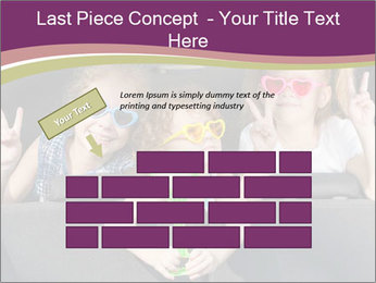 Two little girls and boy sitting in the car PowerPoint Templates - Slide 46