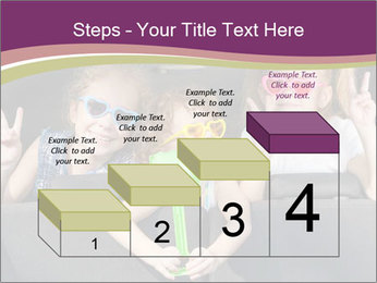 Two little girls and boy sitting in the car PowerPoint Templates - Slide 64