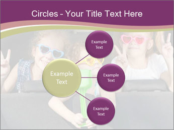 Two little girls and boy sitting in the car PowerPoint Template - Slide 79