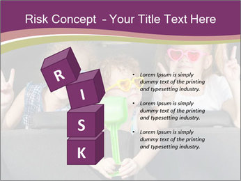 Two little girls and boy sitting in the car PowerPoint Templates - Slide 81