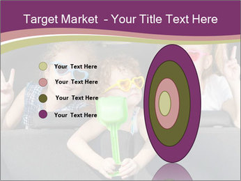 Two little girls and boy sitting in the car PowerPoint Templates - Slide 84