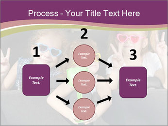 Two little girls and boy sitting in the car PowerPoint Templates - Slide 92