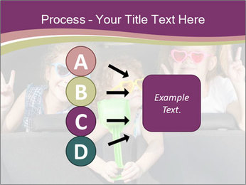 Two little girls and boy sitting in the car PowerPoint Templates - Slide 94