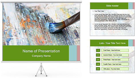 Closeup of brush PowerPoint Template