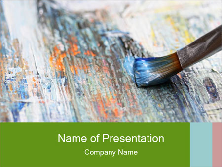 Closeup of brush PowerPoint Templates