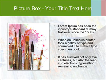 Closeup of brush PowerPoint Template - Slide 13