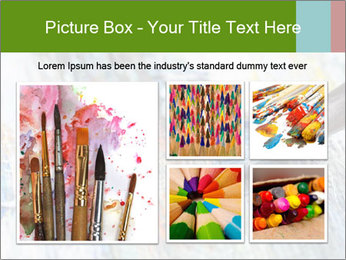 Closeup of brush PowerPoint Template - Slide 19