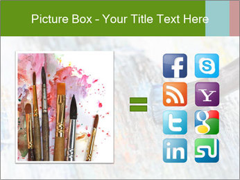 Closeup of brush PowerPoint Template - Slide 21
