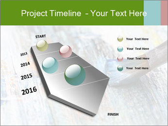 Closeup of brush PowerPoint Template - Slide 26