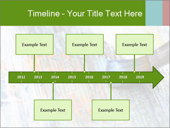 Closeup of brush PowerPoint Template - Slide 28