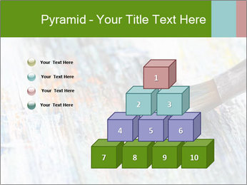 Closeup of brush PowerPoint Template - Slide 31