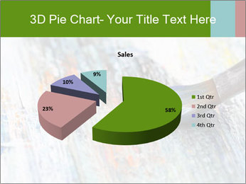 Closeup of brush PowerPoint Template - Slide 35