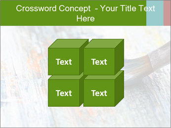 Closeup of brush PowerPoint Template - Slide 39