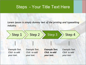 Closeup of brush PowerPoint Template - Slide 4