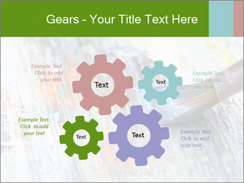 Closeup of brush PowerPoint Template - Slide 47