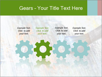 Closeup of brush PowerPoint Template - Slide 48
