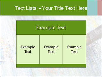 Closeup of brush PowerPoint Template - Slide 59