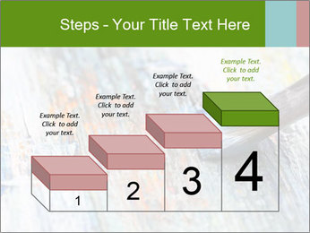 Closeup of brush PowerPoint Template - Slide 64